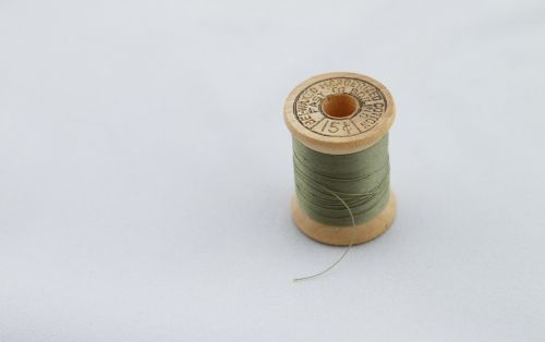 green thread sew sewing
