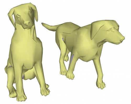 Green Two Dogs