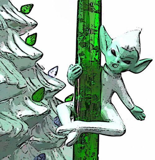 Green Vintage Elf