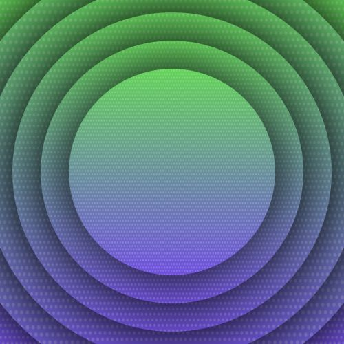 Green Violet Concentric Discs