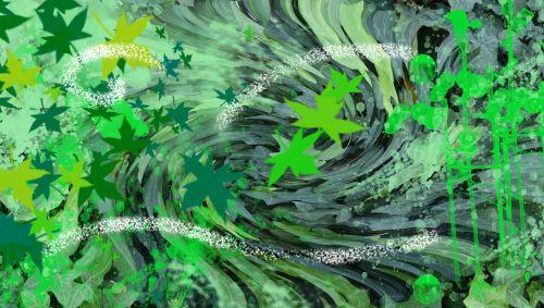 lapai, žalias, ivy dulkės, vėjas, abstraktus, fonas, žalia vėjas