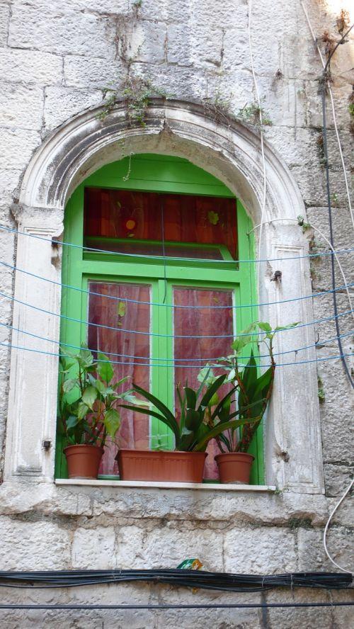 green window in split croatia