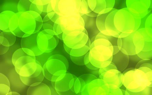 Green Yellow Bokeh Background