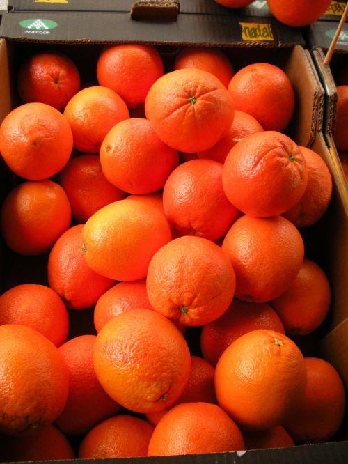 greengrocer fruit crate oranges