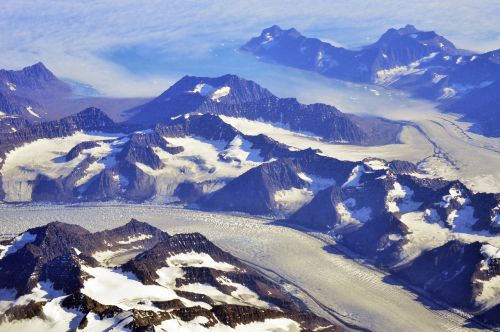 greenland aerial snow