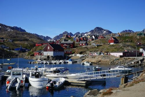 greenland port boats