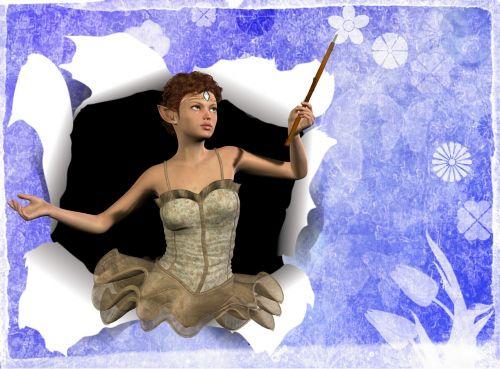 greeting card fairy wand