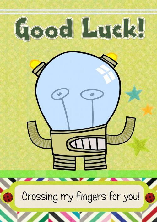 greeting card fun good luck