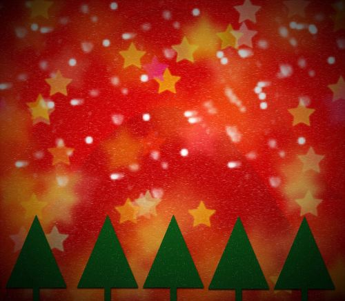 greeting card christmas tree background