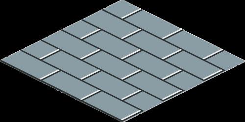 grey brick running bond tile