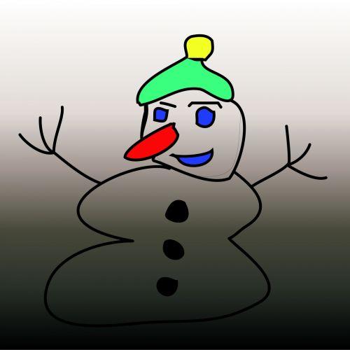 Grey Snowman 3