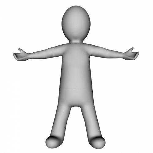 Grey Stick Figure