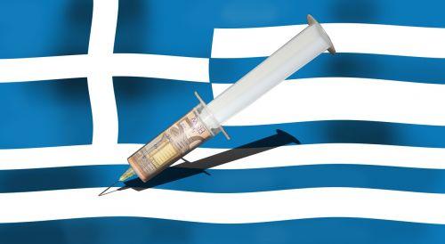 grichenland flag syringe