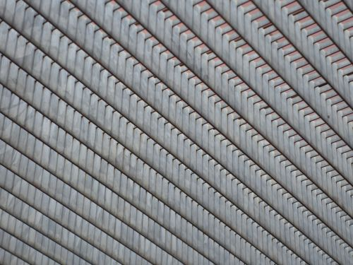 grid from the bottom metal