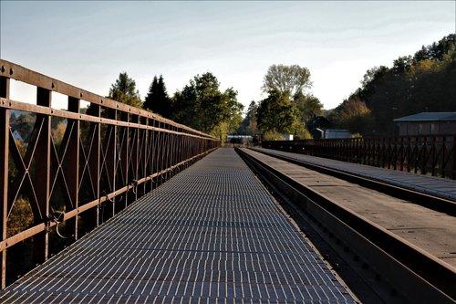 grid  railway bridge  railing