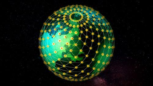 grid ball globe earth