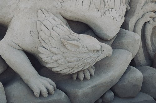 griffin  sand sculptures  sculpture