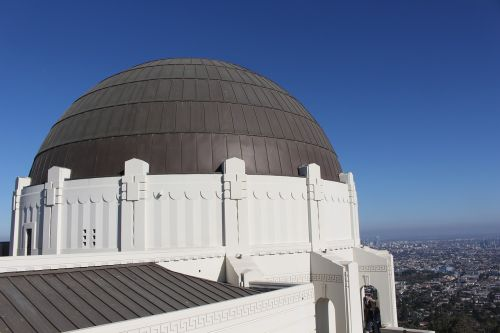 griffith observatory dome sky