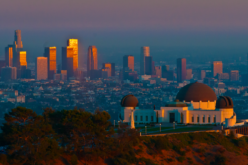 griffith observatory  los angeles  sunset