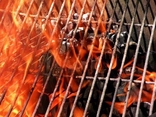 grill fire coals