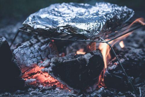 grill aluminum foil ash