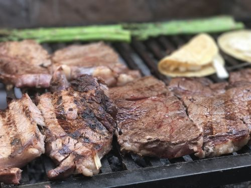 grill meat roast