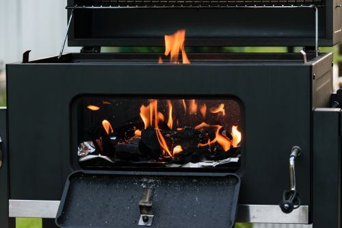 grill charcoal embers