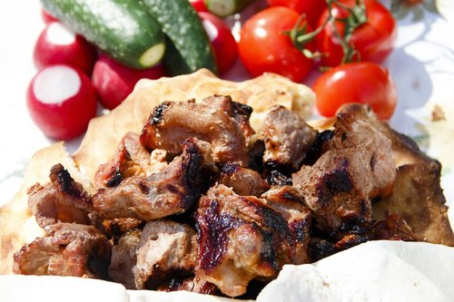 grill  meat  shish kebab