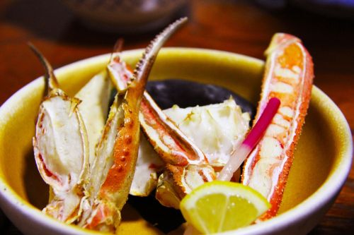 grilled crab meat vegetables
