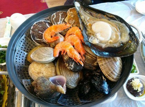 grilled shellfish food shrimp