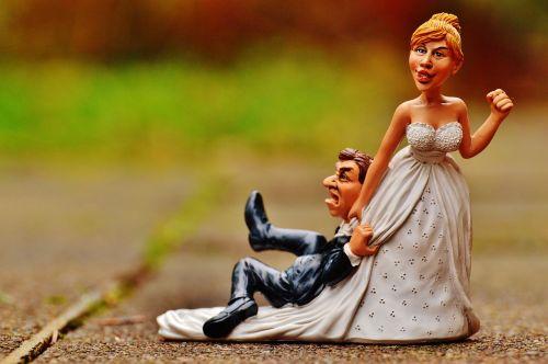 grind down the aisle bride groom
