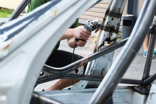 grinding automotive metalwork