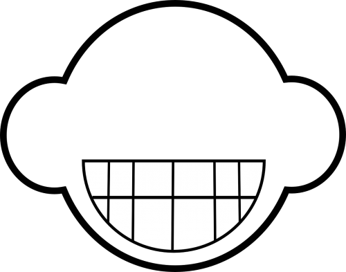 grinning face abstract