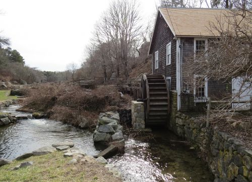 grist mill water wheel countryside