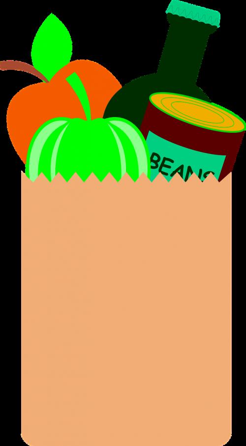 grocery bag groceries beer