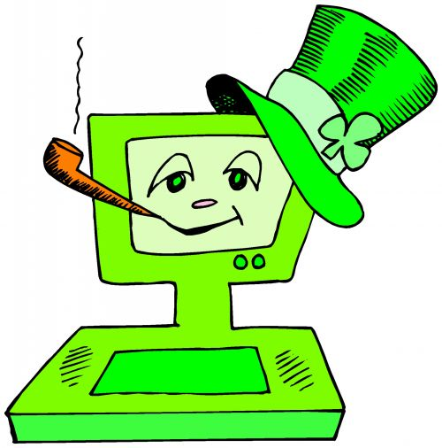 Green With Hat And Pipe