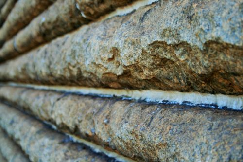 Grooved Granite Wall