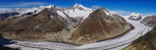 grosser aletsch glacier glacier valais
