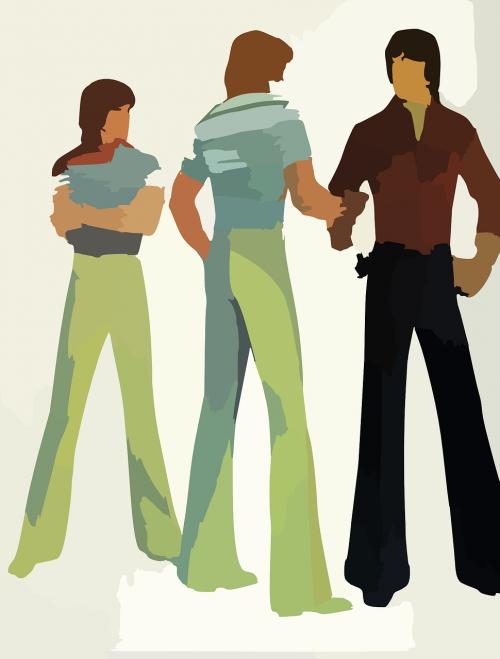 group people pants
