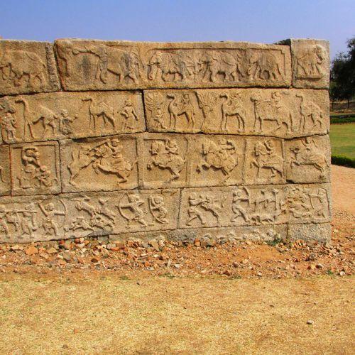 group of warriors hampi india