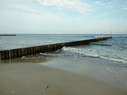 groyne,Baltijos jūra,kranto,vanduo,banga,molo griovys,papludimys,gamta,ruduo,prie jūros,labiausiai paplūdimio,jūros paplūdimys,smėlio paplūdimys