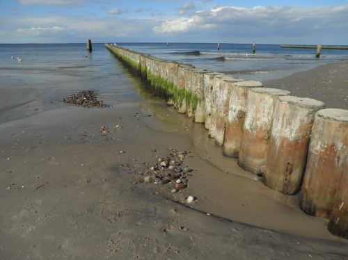 groynes baltic sea shallow water