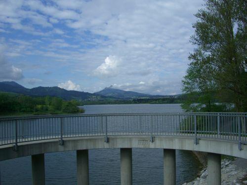 gruentensee dam observation deck