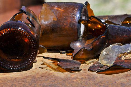 Grunge Broken Bottles