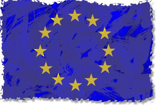 Grunge European Union Flag