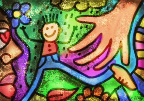 Grunge Graffiti Painting