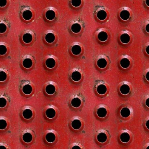 Grunge Metal Red Holes