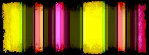 Grunge Striped Banner