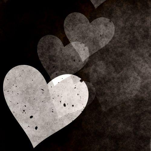 Grungy Black Hearts