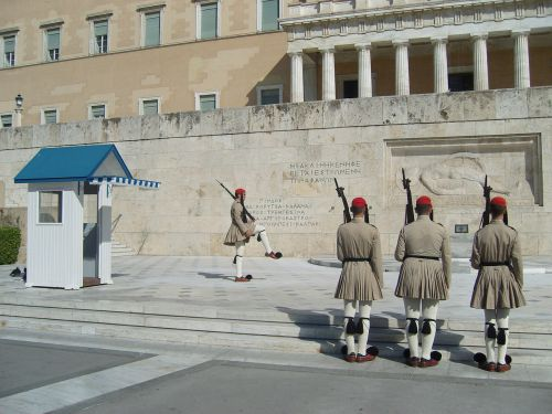 guard changing of the guard greece
